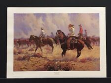 "Robert Summers Limited Edition Print  ""Against the Wind""  Western Cowboy Cattle"