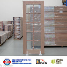 French Doors 10 Lite Clear Safety Glass Solid Timber Meranti Hardwood