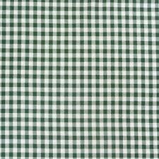Tissu de Coton à Carreaux Blanc Vert Foncé 16mm 1,4m Largeur