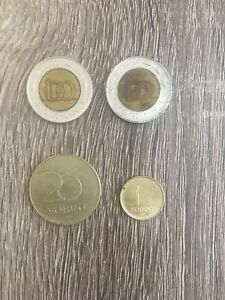 World Coins Hungary 4 Hungarian Forint Lot (2) 100 20 1 Coin Circulated