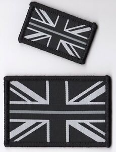 The Thin Silver Line Prison Officer Woven Badge Patch Union Jack Flag