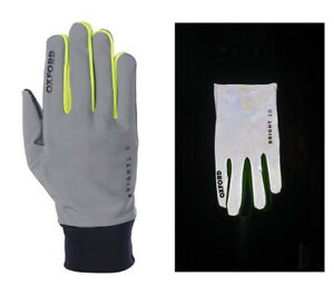 Oxford Bright 2.0 Reflective Windproof Gloves. Cycling / Walking / Running.