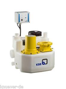 KSB mini-Compacta U1.60D Fäkalien Pumpe Hebeanlage 400V inkl Rückschlag 29131500