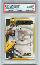 """2016 SCORE #23 AARON RODGERS """"FRANCHISE"""", GREEN BAY PACKERS - PSA 10 (36443)"""