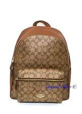 NWT Coach Signature Charlie Backpack F38301 F58314, Khaki