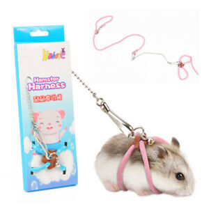 Pet Adjustable Harness Leash Bird Parrot Mouse Hamster Ferrets Rat Pet Leash_UK
