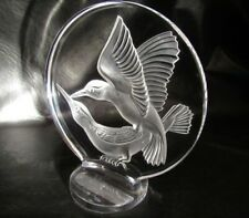 Lalique ((LARGE)) Humming Bird Standing Plaque Signed Mint Label