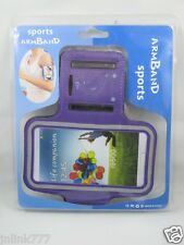 A100:New Sports Armband Case Hold for Android Smartphones-Purple