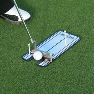 Golf Putting Mirror Alignment Training Aid Swing Trainer Eye Line 31 x 14.5cm