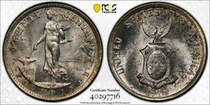 1938-M U.S PHILIPPINES 20 CENTAVOS PCGS MS63 SILVER GEM NICE LUSTER BU UNC