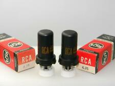 Pair RCA 6J5 NOS NIB 2900gm & 2600gm Metal Serious Tubes K566