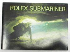 "ROLEX BROCHURE ""ROLEX SUBMARINER"", inglese 8.1989, ottime condizioni, vintage"
