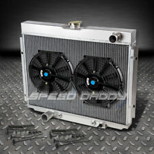 "3-ROW ALUMINUM RACING RADIATOR+2 X 10"" FAN 67-70 FORD MUSTANG/FALCON/FAIRLANE V8"
