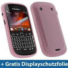 Pink Rosa TPU Tasche für BlackBerry Bold Touch 9900 9930 Gel Skin Schutz Hülle