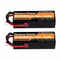2pcs 11.1V 6200mAh 3S LiPo Battery Hardcase Deans 50C for Rc Car Truck Buggy