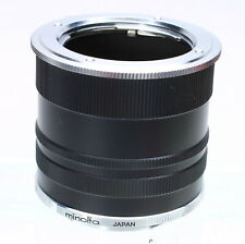 MINOLTA SET OF MACRO EXTENSION TUBES No. 1 2 3 - for MD MC SR MOUNT