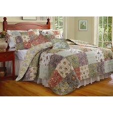 Greenland Home Queen Size Cotton Floral Quilt  Set Reversible Multi-Color