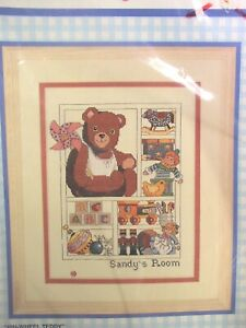 """Counted Cross Stitch Kit Sealed """"Pin-Wheel Teddy"""""""