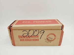 2009 August 13 Lincoln Cent Penny Bank Box 50 Rolls Unopened Collectable Coins