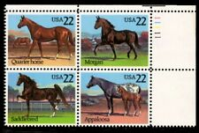 Horses - Scott #2155-2158 Plate Block of 4 stamps MNH