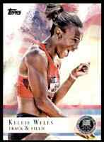 2012 TOPPS OLYMPICS SILVER KELLIE WELLS TRACK & FIELD #73 PARALLEL