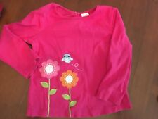 Gymboree SMART AND SWEET 3T EUC Pink bird/flower top ADORABLE !!!