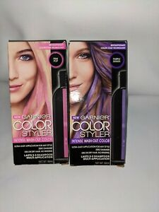 Garnier Hair Color Color Styler Intense Wash-Out Color Purple Mania/Pink Pop New