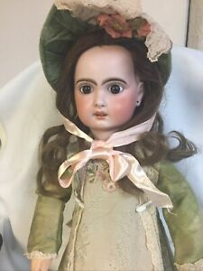 "Antique 23""French Bisque JUMEAU Doll Incised 1907 With Original French Body"