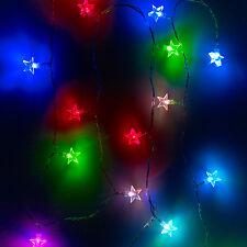 20er LED Lichterkette Stern Farbwechselnd innen
