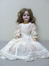 """SIMON & HALBIG ANTIQUE 17"""" GERMAN DOLL with BISQUE SOCKET HEAD, DOLLY FACE #1079"""