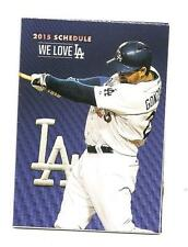 Los Angeles Dodgers MLB Mini Pocket Schedule 2015 Adrian Gonzalez