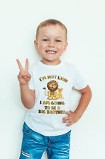 Big brother LION Baby Vest or tshirt Pregnancy announcement