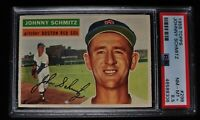 1956 Topps - Johnny Schmitz - #298 - PSA 8.5 - NM-MT+