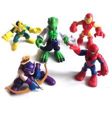 MARVEL Hero Squad Figura Juguete Trabajo Lote Spiderman, Lagarto, Electro, HAWEYE etc.