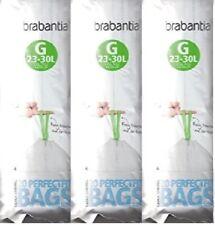 60(3 Rolls) xGenuine  Brabantia Type G 30L 30 Litre Bin Liners Bags genuine