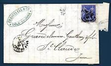 FRANCE - FRANCIA - 1876 - Da Dole (Giura) a Saint Claude, dipartimento del Giura