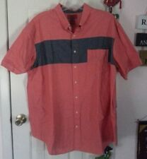 NWOT! FOUNDRY BRAND MEN'S OXFORD STYLE SHORT SLEEVE BUTTON DOWN SHIRT SZ 2XL
