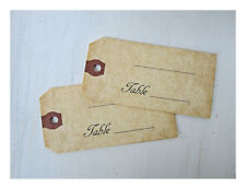 Vintage Wedding Escort Tags, Table Seat Tags, Country  Place Cards