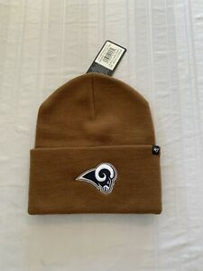 Los Angeles Rams NFL '47 Carhartt Mens Brown Cuff Knit Beanie Winter Hat New