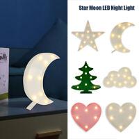 Lumière Noël Lampe En Forme D'étoile Lune Sapin LED FêteVeilleuse Décoration BM