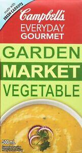 12PACK CAMPBELL'S Everyday Gourmet Garden Market Vegetable 500G ALWAYS FRESH