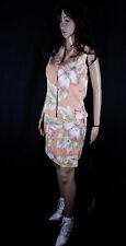 100% Seide Kostüm Wickelrock 2 PC Woven Silk Skirt Suit Tommy Bahama Peach Gr S