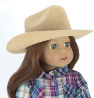 "Doll Clothes 18"" Western Cowgirl Hat Tan Sophia's Fits American Girl Dolls"