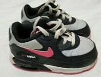 Nike Toddler Air Max 90 LTR Sneakers Shoes Black/Hot Pink Size 6C 408112 015