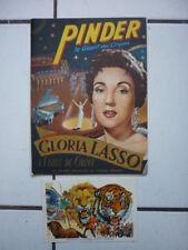 PROGRAMME  PINDER  / AVEC GLORIA LASSO   1958  + CARTE SOUVENIR