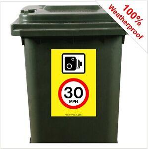Speed Camera 30mph road safety wheelie bin sticker sign 9421 30cm x 20cm