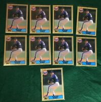 1987 Topps #757 Nolan Ryan Houston Astros 9 Card Lot NM-GM?