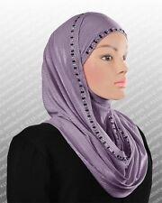 Metallic JERSEY scarf HOODED Instant Hijab slip on Scarf SHAWL Instant Wrap