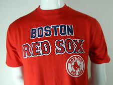 Vintage Boston Red Sox T Shirt Large 80s Red 50 50 USA Sportswear Short Sleeve