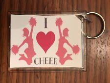 Cheerleading Keychain with I Love Cheer